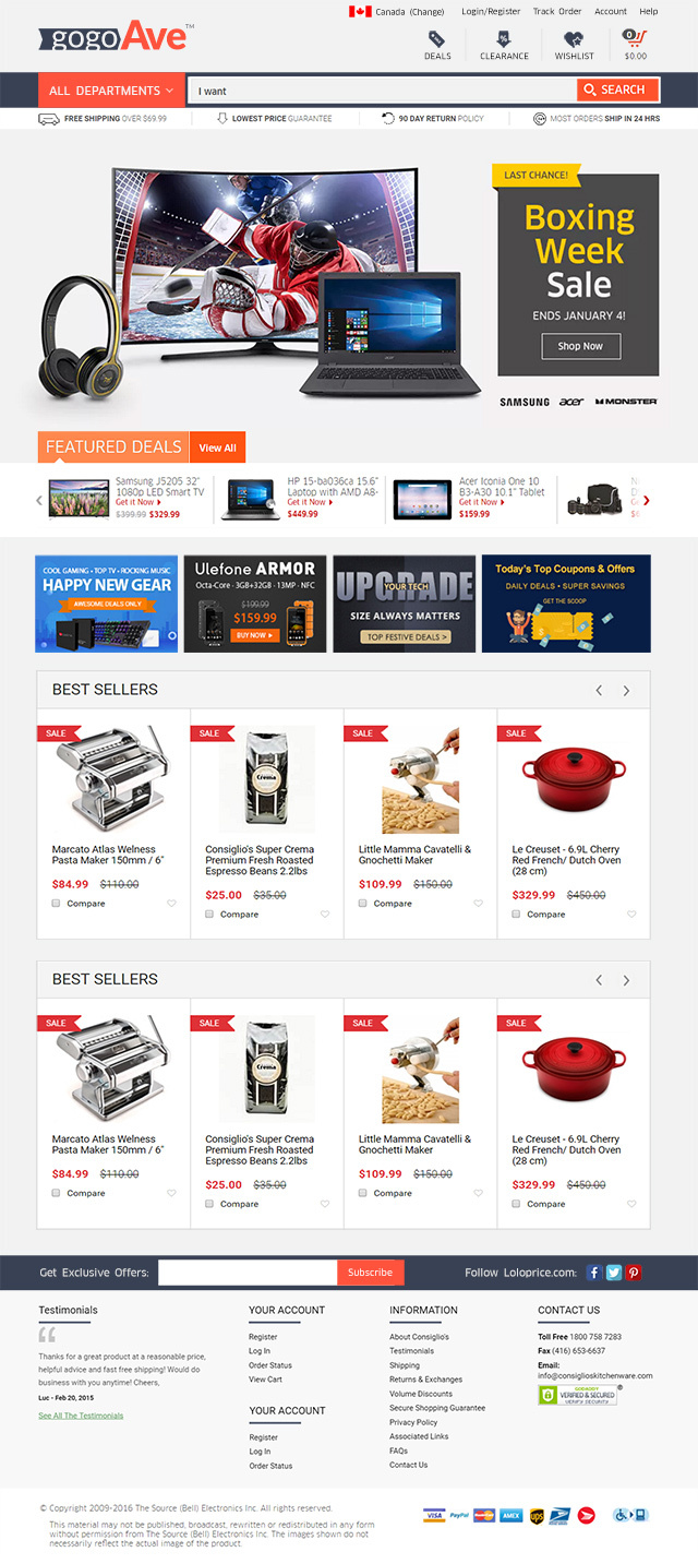 CS-CART electronic theme